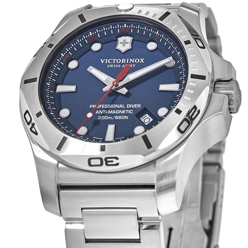 Victorinox Swiss Army I N O X Professional Diver Blue Dial Men S Watch 241782