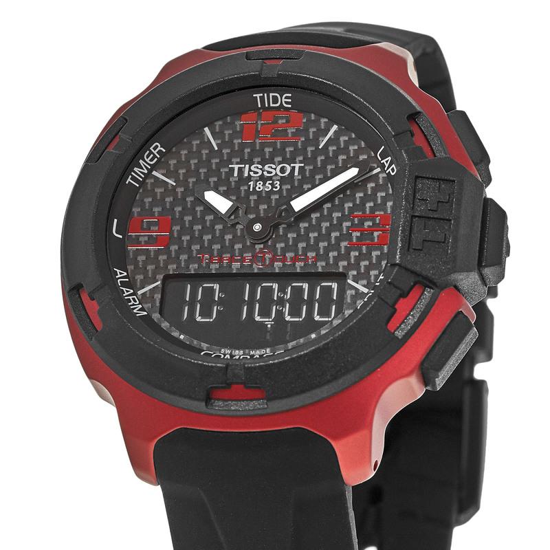 535211569d7 Tissot T-Race Touch Red Aluminum Rubber Strap Men s Watch  T081.420.97.207.00. Aluminium Case  42mm Case Dimension  Black Dial  Black  Silicone Strap