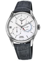 Oris Artelier Calibre 112 Silver Dial Grey Alligator Leather Men's Watch 01 112 7726 4051-Set 1 23 71FC