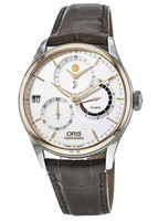 Oris Artelier Calibre 112 Stainless Steel & Rose Gold Men's Watch 01 112 7726 6351-Set 1 23 73FC