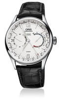 Oris Artelier Calibre 113 Silver Dial Black Leather Men's Watch 01 113 7738 4061-Set 1 23 72FC
