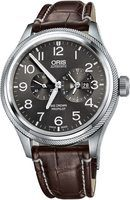 Oris Big Crown ProPilot Worldtimer Grey Dial Brown Leather Strap Men's Watch 01 690 7735 4063-07 1 22 72FC