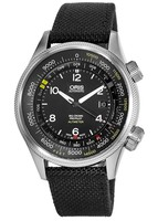 Oris Big Crown ProPilot Altimeter with Feet Scale Black Dial Black Fabric Strap Men's Watch 01 733 7705 4134-07 5 23 15FC