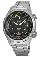 Oris Big Crown ProPilot Altimeter with Feet Scale Black Dial Stainless Steel Men's Watch 01 733 7705 4134-Set 8 23 19