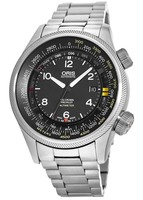Oris Big Crown ProPilot Altimeter with Feet Scale Black Dial Stainless Steel Men's Watch 01 733 7705 4164-Set 8 23 19