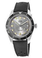 Oris Divers Sixty- Five Silver Dial Black Rubber Men's Watch 01 733 7720 4051-07 4 21 18