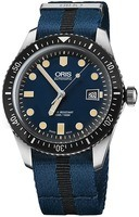Oris Divers Sixty- Five Blue Dial Blue And Black Fabric Men's Watch 01 733 7720 4055-07 5 21 28FC