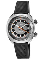Oris Chronoris Date Grey Dial Black Rubber Men's Watch 01 733 7737 4053-07 4 19 01FC