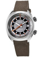Oris Chronoris Date Grey Dial Brown Leather Men's Watch 01 733 7737 4053-07 5 19 43