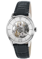 Oris Artelier Skeleton Automatic Leather Strap Men's Watch 01 734 7721 4051-07 5 21 61FC