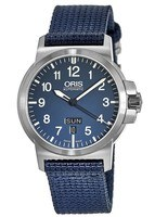 Oris BC3 Advanced Day Date Blue Dial Blue Fabric Men's Watch 01 735 7641 4165-07 5 22 26