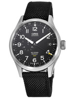 Oris Big Crown ProPilot GMT Small Second Black Dial Black Fabric Men's Watch 01 748 7710 4164-07 5 22 15FC