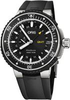 Oris ProDiver  Black Dial Black Rubber Strap Men's Watch 01 748 7748 7154-07 4 26 74TEB