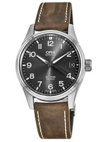 Oris Big Crown ProPilot Date Grey Dial Brown Leather Men's Watch 01 751 7697 4063-07 5 20 05FC
