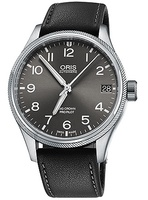Oris Big Crown ProPilot Date Grey Dial Black Leather Strap Men's Watch 01 751 7697 4063-07 5 20 19FC