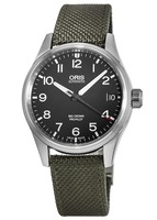 Oris Big Crown ProPilot Date Black Dial Green Fabric Men's Watch 01 751 7697 4164-07 5 20 14FC