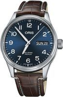 Oris Big Crown ProPilot Day Date Blue Dial Brown Leather Strap Men's Watch 01 752 7698 4065-07 1 22 72FC