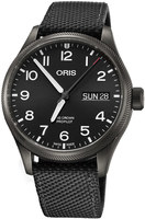 Oris Big Crown ProPilot Day Date Black Dial Black Fabric Strap Men's Watch 01 752 7698 4264-07 5 22 15GFC
