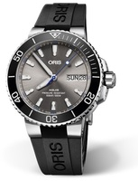 Oris Divers Limited Edition Grey Dial Black Rubber Strap Men's Watch 01 752 7733 4183-Set RS