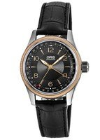 Oris Big Crown Pointer Date Rose Gold Bezel Leather Strap Men's Watch 01 754 7679 4334-07 5 20 76FC