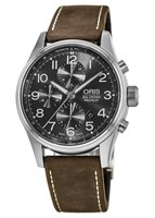 Oris Big Crown ProPilot Chronograph Grey Dial Brown Leather Men's Watch 01 774 7699 4063-07 5 22 05FC