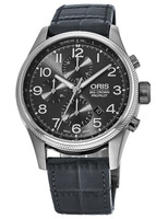 Oris Big Crown ProPilot Chronograph Grey Dial Grey Leather Strap Men's Watch 01 774 7699 4063-07 5 22 06FC