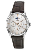 Oris Artelier Complication Silver Dial Brown Leather Men's Watch 01 781 7729 4031-07 5 21 65FC