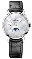 Zenith Elite Ultra Thin Lady Moonphase Mother of Pearl Dial Women's Watch 03.2320.692/80.C714