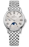 Zenith Elite Ultra Thin Lady Moonphase Silver Dial Stainless Steel Women's Watch 03.2330.692/02.M2330