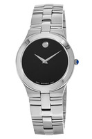 Movado Juro  36mm Black Dial Stainless Steel Men's Watch 0605023