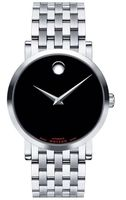 Movado Red Label  Black Dial Stainless Steel Men's Watch 0606115