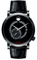 Movado Red Label  Automatic Animated Date Small Seconds Black Dial Men's Watch 0606485