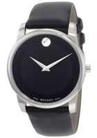 Movado Museum Classic 40mm Black Dial Calfskin Strap Men's Watch 0606502