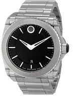 Movado Master  Black Dial Stainless Steel Men's Watch 0606550