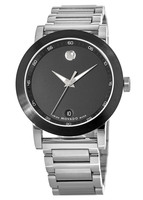 Movado Museum Sport  Black Dial Stainless Steel Men's Watch 0606604