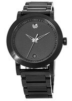 Movado Museum Sport  Black Dial Black PVD Stainless Steel Men's Watch 0606615