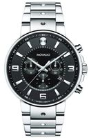 Movado Se Pilot  Black Chronograph Dial Stainless Steel Men's Watch 0606759