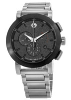 Movado Museum Sport  Black Chronograph Dial Steel Men's Watch 0606792