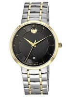 Movado 1881 Automatic  Black Dial Two Tone Stainless Steel Men's Watch 0606916