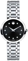 Movado 1881 Automatic  Black Diamond Dial Stainless Steel Women's Watch 0606919