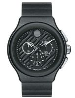 Movado Parlee  Black Carbon Fiber DIal Men's Watch 0606929
