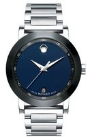 Movado Museum  Blue Dial Stainless Steel Men's Watch 0607004