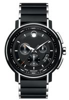 Movado Strato  Black Chronograph Dial Men's Watch 0607006