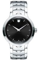 Movado Luno  Black Dial Stainless Steel Men's Watch 0607041