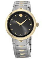 Movado Luno  Black Dial Two-Tone Stainless Steel Men's Watch 0607043