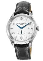 Baume & Mercier Clifton Automatic 41mm Silver Dial Leather Strap Men's Watch 10052
