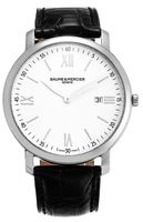 Baume & Mercier Classima Executives Quartz 39mm Steel Leather Strap Men's Watch 10097