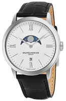 Baume & Mercier Classima Executives Quartz White Dial Moonphase Men's Watch 10219