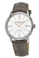 Baume & Mercier Clifton Automatic  Silver Dial Brown Leather Men's Watch 10263