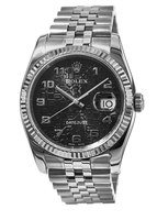 Rolex Datejust 36  Black Jubilee Dial Unisex Watch 116234-BKJAJ-PO